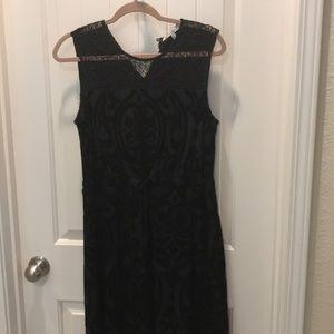Black velvet and lace dress- stitch fix